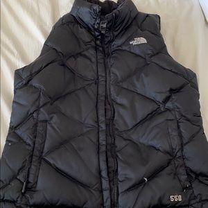 North Face black women's vest